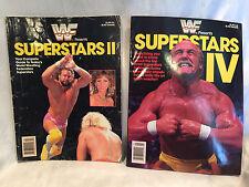 WWF SUPERSTARS II AND IV MAGAZINES 1987/89 HULK HOGAN RANDY SAVAGE RODDY PIPER