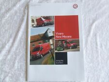 VAUXHALL VIVARO NEW MOVANO BROCHURE 43 PAGES +TECHNICAL DATA 2004