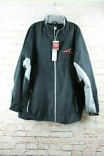 Antigua Mens Zip Up Jacket MILB Richmond Flying Squirrels Sz XXL Black New