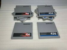 "Quantegy 456 Grand Master Studio Master Audio Tape 7"" Reels 1/4"" x 1200' x10"