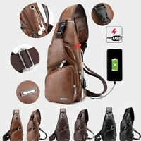 Men's Sling Bag Chest Shoulder Backpack Cross Body Purse Anti Theft For Travel
