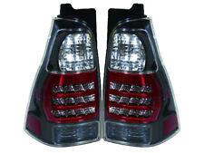 Depo Toyota 4 Runner 03 - 09 Jdm Black Style Bezel Led Rear Tail Light Lamp Pair