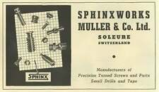 1953 Sphinx Works Muller And Co- Soleure Switzerland Ad