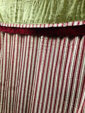 DD113 One Pair 118'X84' Velvet Suede Window Curtain Drapes w/Valence Sheer Ties