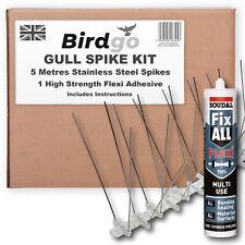 Birdgo 5m Gull Pro Spikes & Adhesive Kit - Professional Seagull Bird Spikes