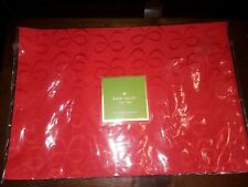 Kate Spade Holiday Cranberry Red Bows Rare Placemats NWT set 4 NEW