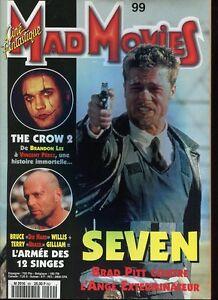 Ciné-Fantastique Mad Movies N°99 Brad Pitt Seven The Crow Bruce Willis