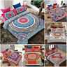 Luxury Bohemian Mandala Bedding Set Double King Duvet Cover Pillowcase