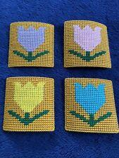 Needlepoint Tulip Coasters