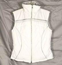 Nils Reversible Puffer Ecodown Vest Women Sz 6 White Silver Entrant Dermizax Ski