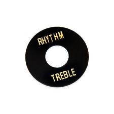 Hosco Les Paul Rhythm/Treble Poker Chip Style Switch Plate (Black)