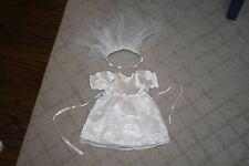 "Heritage Clothesline Doll Wedding 1st Communion Wedding Dress Fits 18"" Am. Girl"