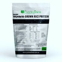 ORGANIC VEGAN FERMENTED NATURAL WHOLE BROWN RICE PROTEIN CHOC 1kg NOT GRITTY