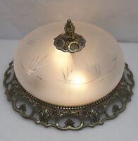 Antik Stil Decken Lampe Leuchte Ø24cm Kronleuchter Led Light Glas NEU VERKABELT