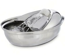 Harmony Cascading Stainless Steel Deluxe Pet Water Fountain, 60 oz. New
