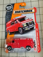 Matchbox '95 Custom Chevy Van Red