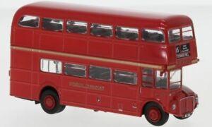Brekina 61100 AEC Routemaster Bus London Transport Red 1960 1/87
