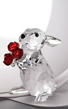 SWAROVSKI CRYSTAL RABBIT WITH ROSES 5063338 MINT BOXED RETIRED RARE