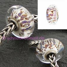 TROLLBEADS Glasbead Violette Luftblasen - Purple Rippling Bubbles 61482 - 14