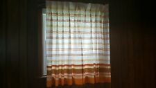 Sears pinch pleat vintage curtains drapes orange set of 4 panels standard window