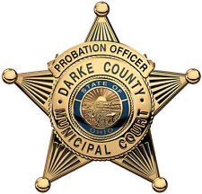 Darke County Ohio Probation Officer's Badge all Metal Sign.