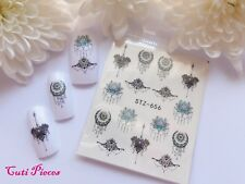 Nail Art Filigree Dream Catcher Lace Necklace Water Transfer Decal Sticker 656