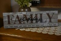 NEW PRIMITIVE FARMHOUSE COUNTRY FAMILY BIRTHDAY CALENDAR HOME DECOR