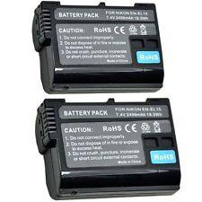 2X 2499mAh ENEL15/EN-EL15/EL15a/EL15e Battery for Nikon D7000/D7100/D800/D800E