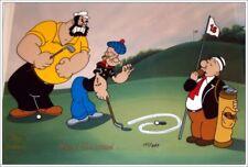 Framed Signed Popeye, Brutus, Wimpy Ltd. Edition Animation Cel w/Coa