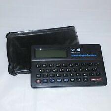 Spanish to English Translator Sii Seiko Instrument Tr-2200 Calculator and Memos