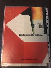 1980s Vintage MARLBORO CIGARETTES Print Advertisement Marlboro Country