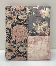 NEW Pottery Barn Rosalyn Patchwork Cotton Quilted EURO Sham~Multicolor