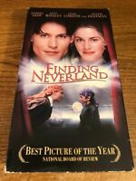 Finding Neverland  VHS VCR Video Tape Movie  Kate Winslet, Johnny Depp Used