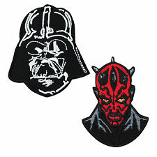 2 Lot  STAR WARS Darth Vader Embroidery Iron On Applique Patch Anakin Forces Saw