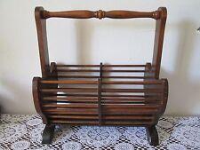Porte-revues rustique ancien en bois vintage