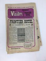 Vegas Visitor Newspaper Frontier Hotel Casino Las Vegas 1971 Vintage