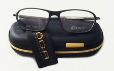 Oga Morel Eyeglasses 7191O 57/18/140 MG041 Black Gunmetal Mens Frame Case France