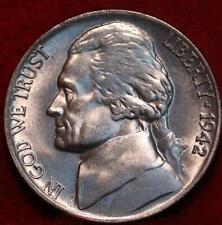 Uncirculated 1942  Philadelphia Mint Silver Jefferson Nickel Type II