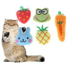 5pcs Fruit Animal Series Soft Plush Cotton Cat Dog Chew Plaything Pet Toys SN9F