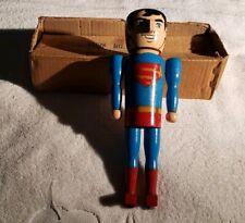 "Vintage 1979 DC Comics 11"" Superman Wood Nutcracker Figure w/Box"