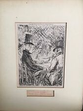 "Etching by William James Glackens ""you like it-drink it"" 1870-1938"