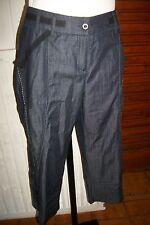 Pantacourt bermuda coton couleur jeans leger SALT & PEPPER 42 surpiqué  ET53