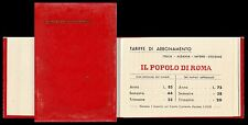 Il Popolo di Roma, quotidiano. Rubrica indirizzi e telefoni con calendario 1941