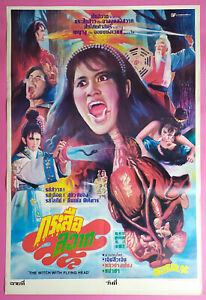 The Witch with Flying Head (1985) Hong Kong Film Thai Movie Poster Original