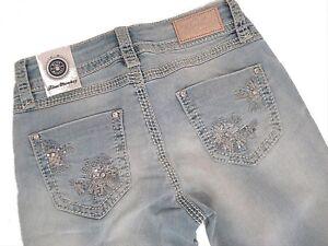 BLUE MONKEY  Jeans  LUNA 3935 used  Gr. 25 27 29 30 31 /L32  mit Strass Luxury