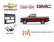 Fits 1988-1994 CHEVY, GMC FULL SIZE TRUCK STEREO INSTALL DASH KIT (GRAY)