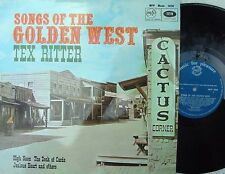 Tex Ritter ORIG UK LP Songs of the golden west NM MFP 1076 Country MONO