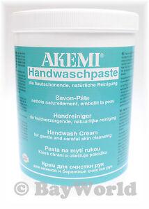 AKEMI Handwaschpaste Reiniger Seife für Werkstatt 800g Dose pflegt Haut 90612