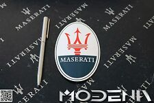 Emblema Maserati TRidente Adesivo stemma logo sticker badge DECAL OVALE 12 cm