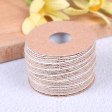 10m roll natural jute burlap rustic hessian ribbon tape strap wedding decor MW